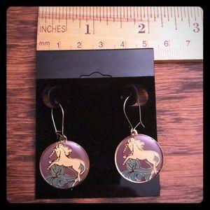 Jewelry - Vintage Unicorn Earrings